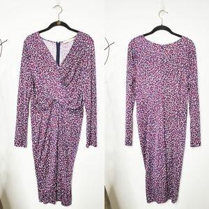 Tory Burch Interlock Silk Twist Dress.